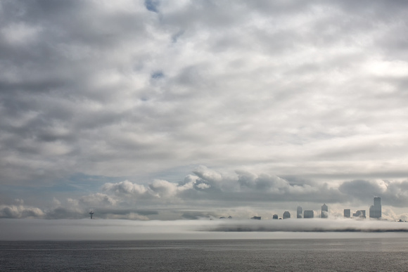 A Foggy Seattle Skyline